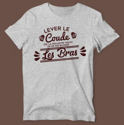 "TEE-SHIRT ""LEVER LE COUDE """
