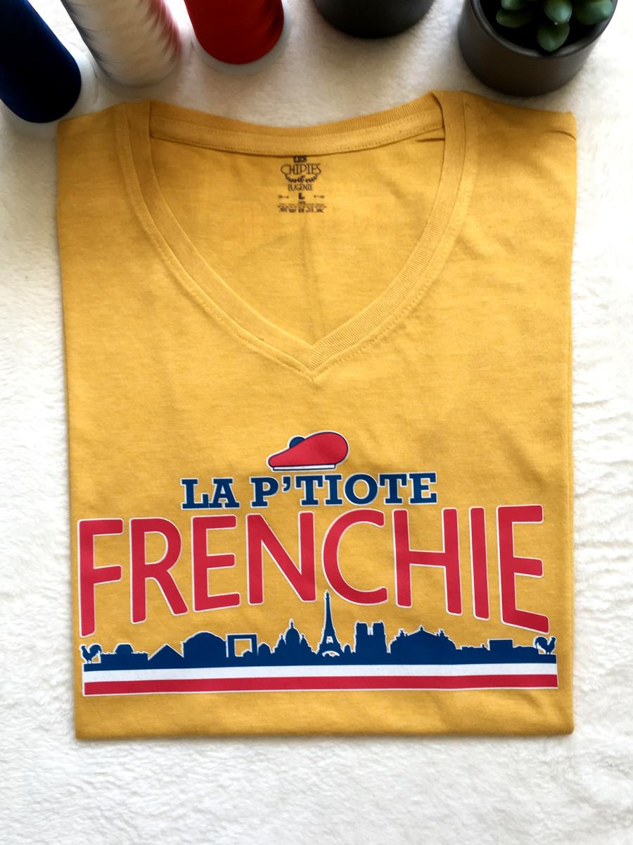 "TEE-SHIRT "" LA P'TIOTE FRENCHIE"""
