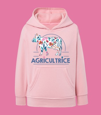 "SWEAT ENFANT "" AGRICULTRICE"""