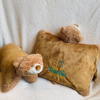 COUSSIN PELUCHE OURS PERSONNALISABLE
