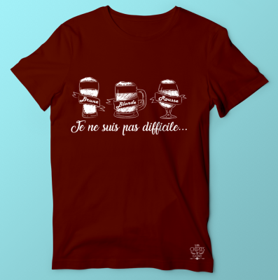 "TEE-SHIRT ""BLONDE BRUNE ROUSSE"""